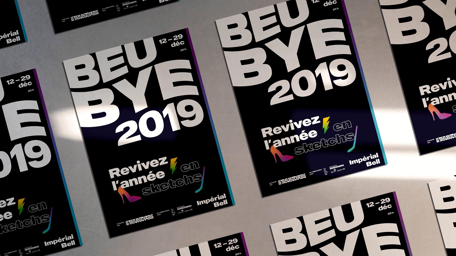 Visuel événementiel   Mosaïque d'affiches de l'édition 2019   Beubye
