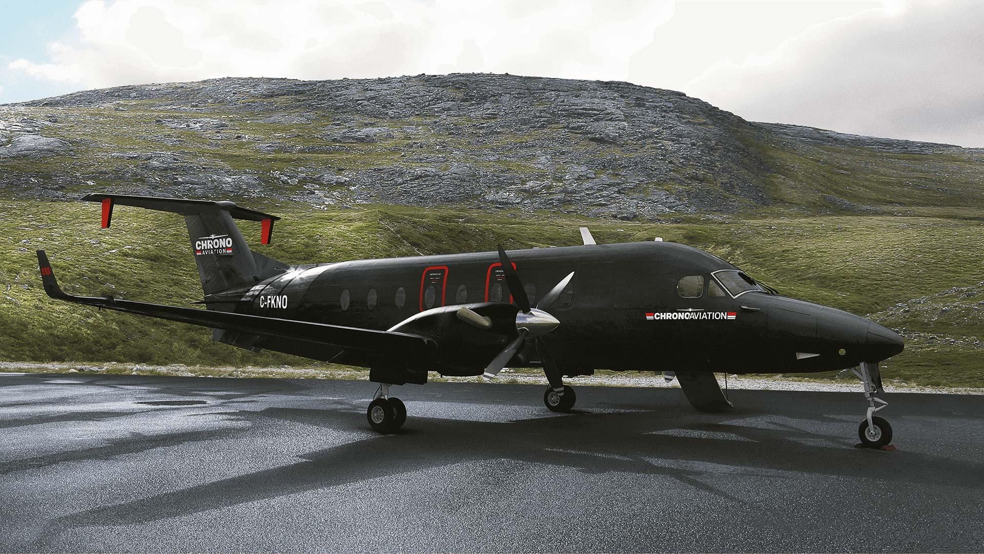 Identité visuelle   Beechcraft noir mat   Chrono Aviation