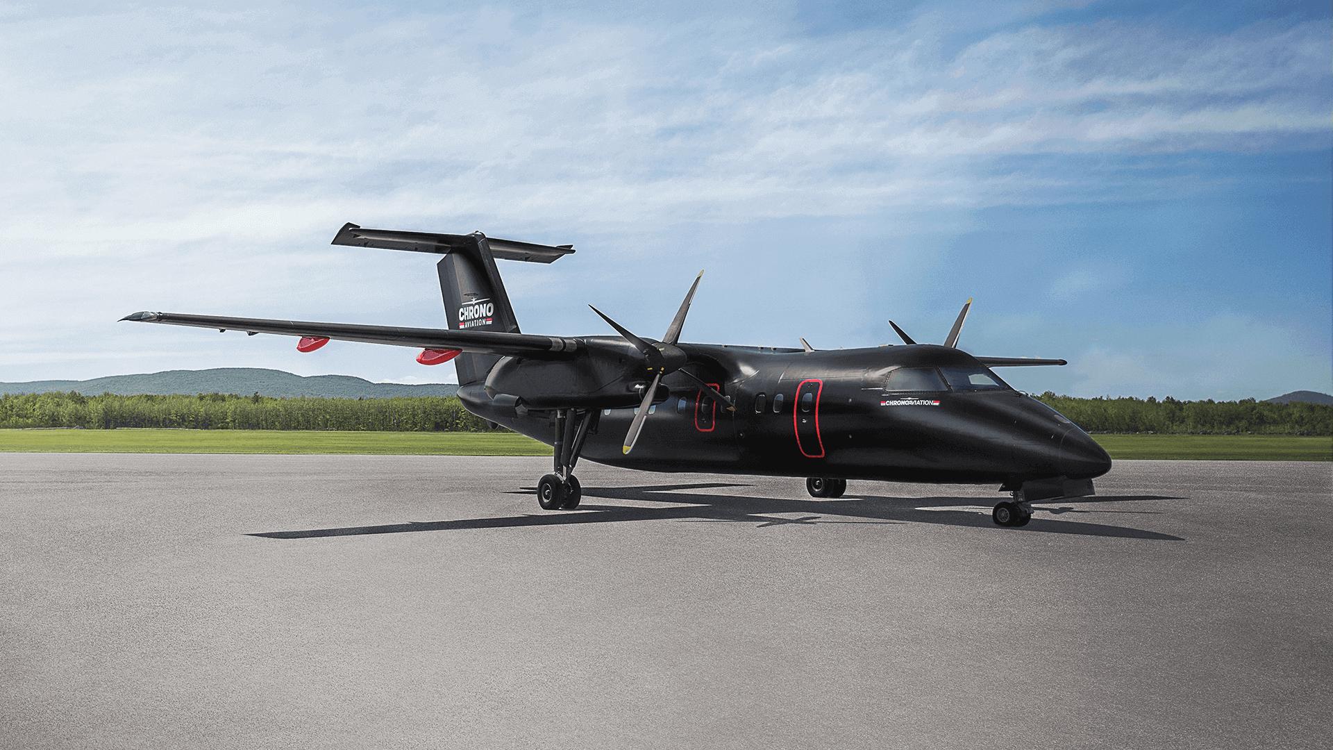 Identité visuelle   Dash 8 noir mat   Chrono Aviation