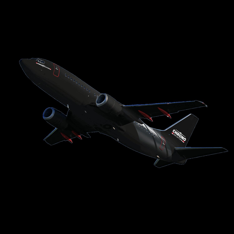 Identité visuelle   Boeing 737 en vol sur fond transparent   Chrono Aviation