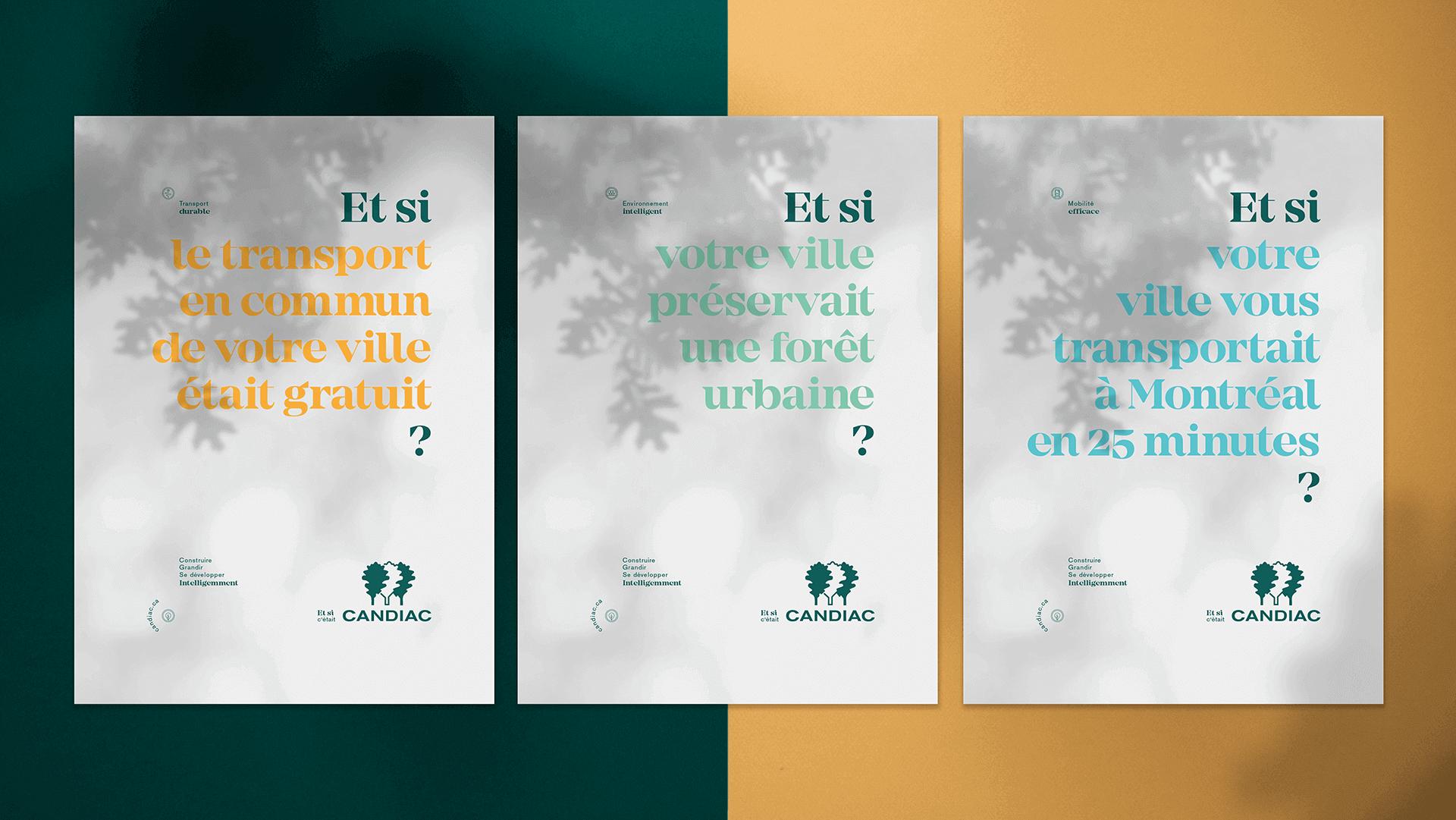 Marketing territorial et Campagne publicitaire   Les trois affiches de la campagne publicitaire   Candiac