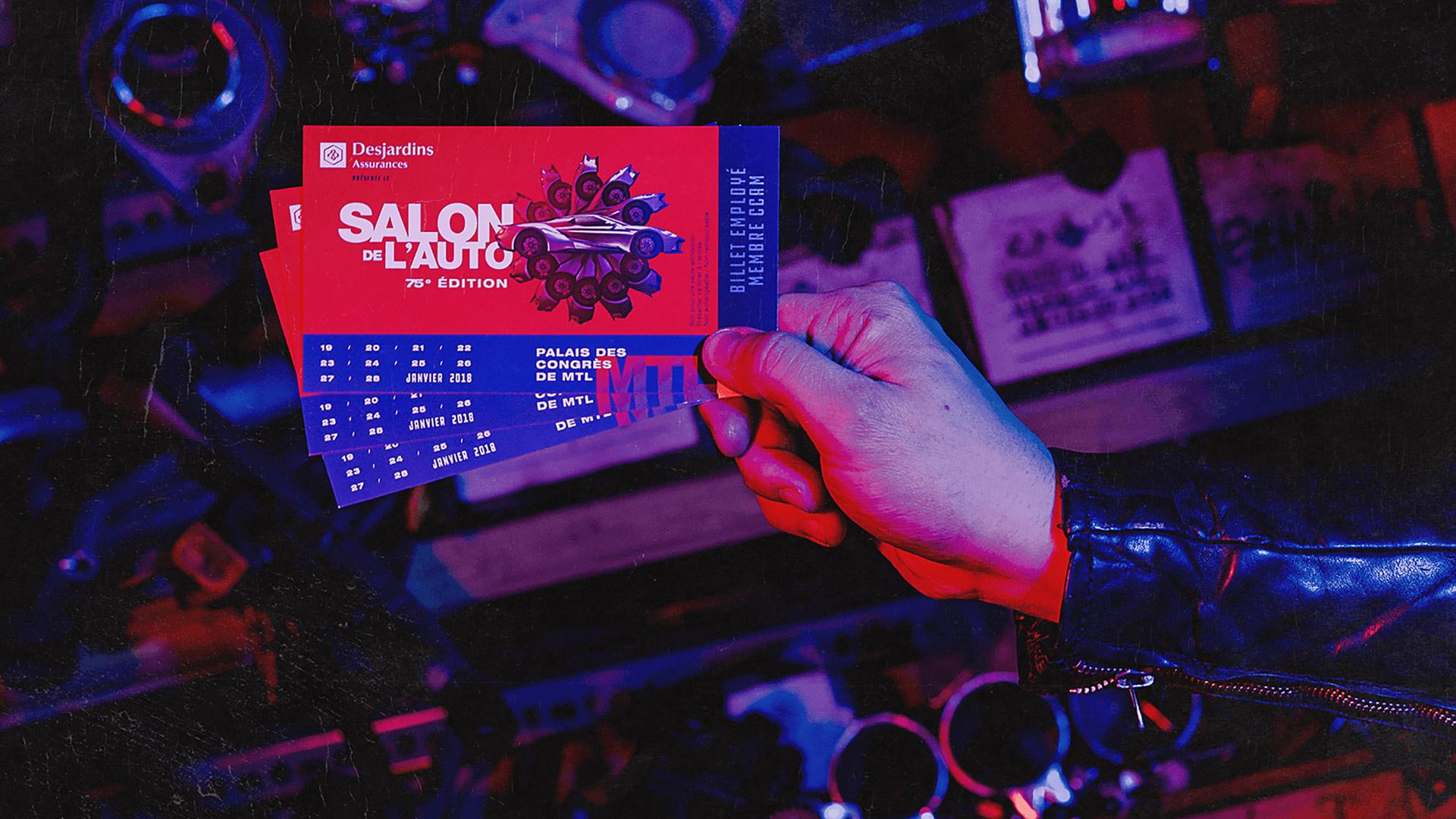 Campagne publicitaire événementielle | Billet employé - Membre CCAM | Salon International de l'Auto de Montréal