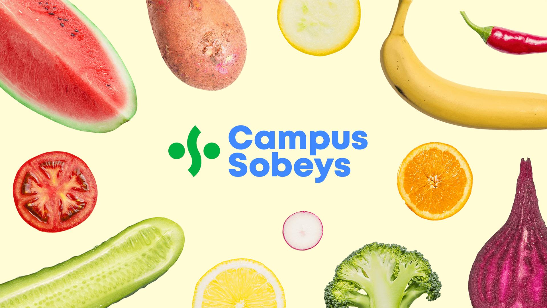 Naming & Branding | Logo entouré de fruits | Campus Sobeys
