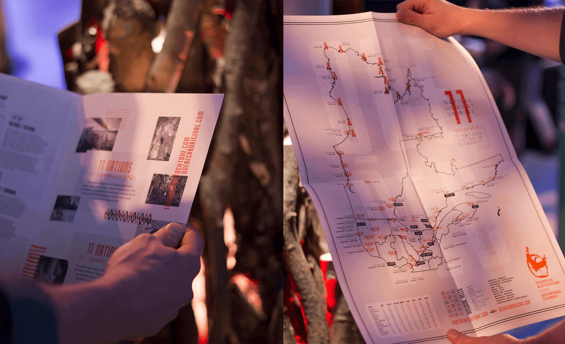 Identité visuelle |Carte du Québec répertoriant les communautés autochtones de la province |TAQ