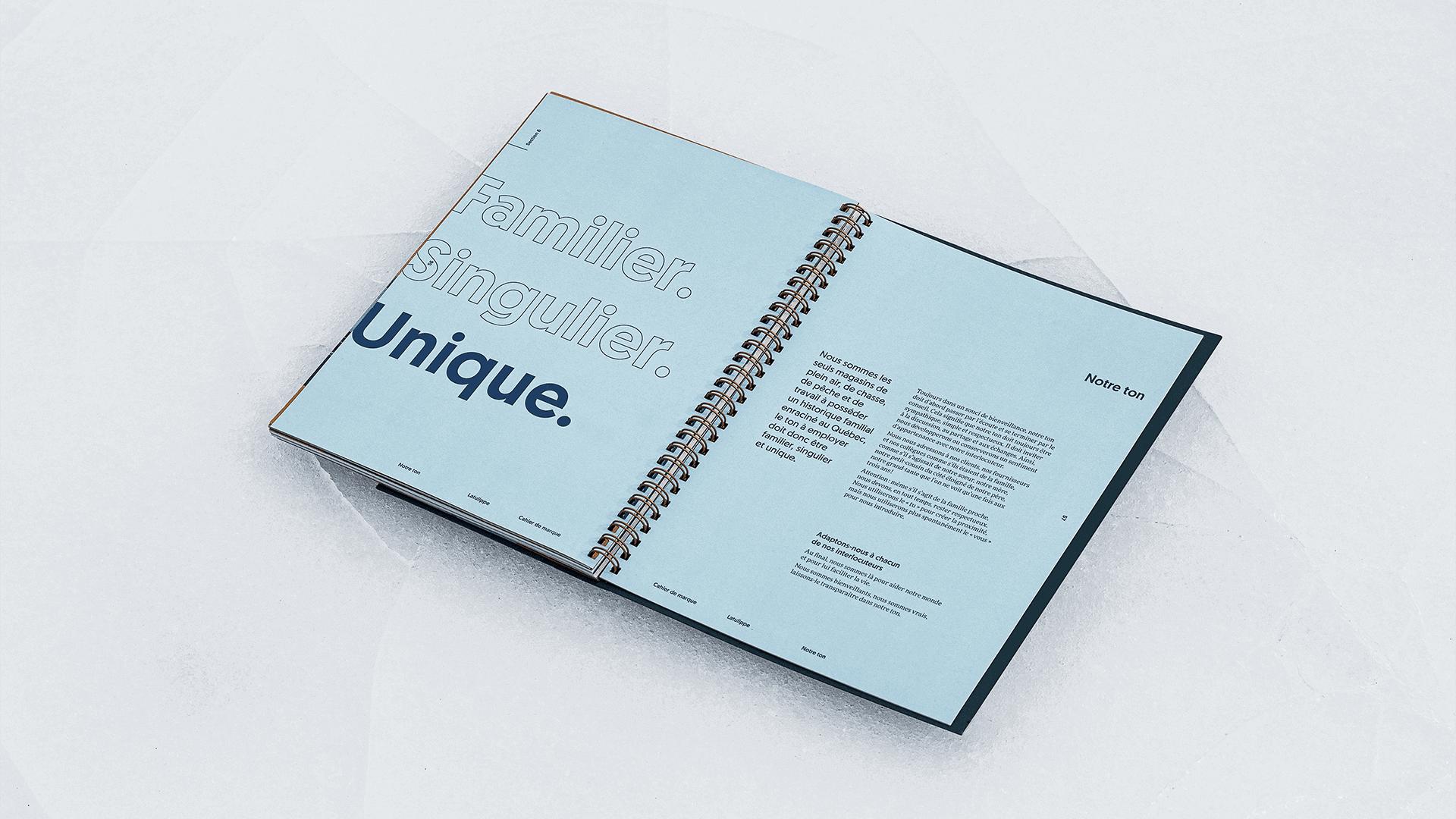 """Branding   Section """"Notre ton"""" du cahier de marque (brand book)   Latulippe"""