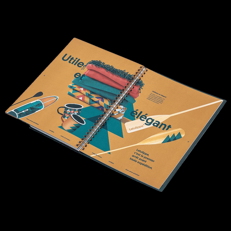 Branding   Intérieur du cahier de marque (brand book) sur fond transparent   Latulippe